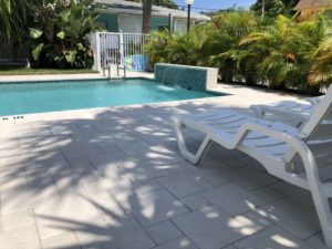 White Horse Motel- Swimming Pool deck and waterfall
