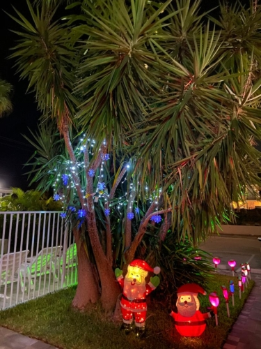 White Horse Motel- Swimming Pool entry-Christmas decorations